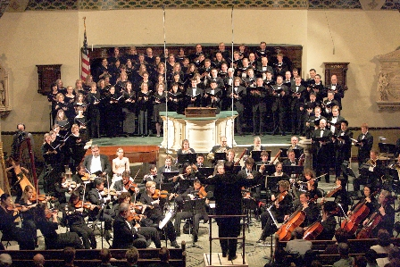 Paul S. Jones Conducting Tenth Church Choir and orchestra on Good Friday